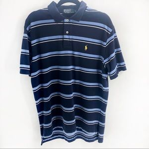 Polo by Ralph Lauren blue & white striped Shirt L